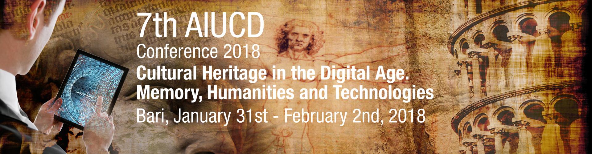 Conferenza AIUCD 2018: Bari, 31 gennaio – 2 febbraio 2018
