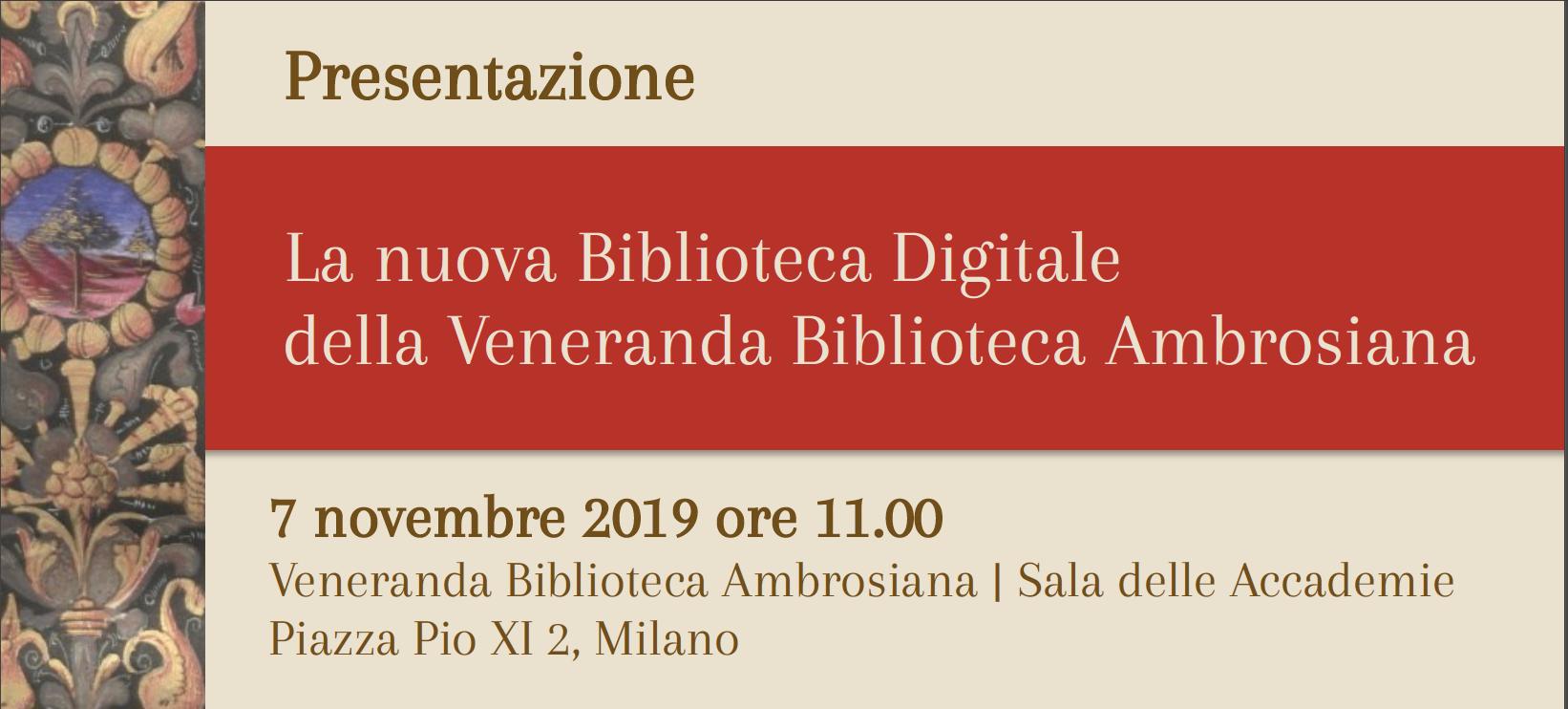 Nuova Biblioteca Digitale Ambrosiana